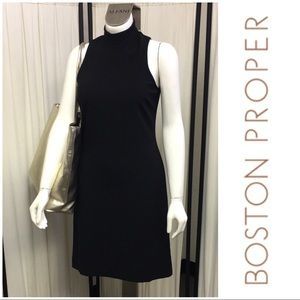 Fitted Turtle Neck Black Dress By Boston Proper
